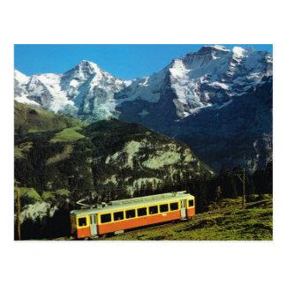 Switzerland, Train to Jungfraujoch, the top of Eur Postcard