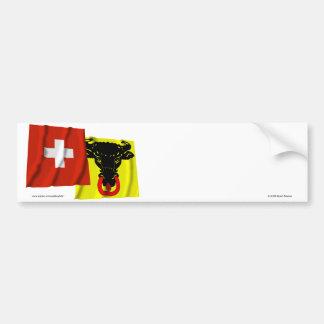 Switzerland & Uri Waving Flags Bumper Sticker