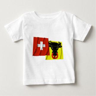 Switzerland & Uri Waving Flags T Shirt