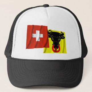 Switzerland & Uri Waving Flags Trucker Hat