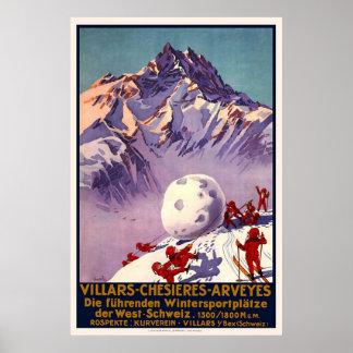 Switzerland Villars Chesieres Arveyes Poster
