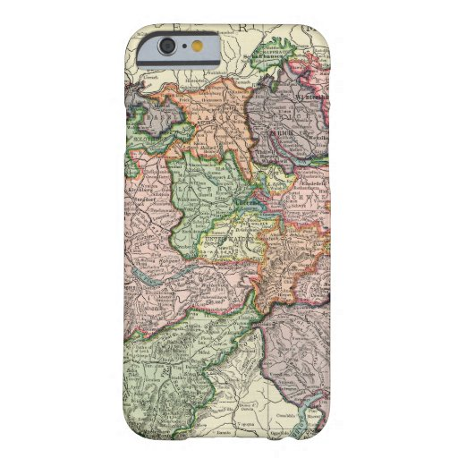 Switzerland Vintage Map iPhone 6 Barely There Case