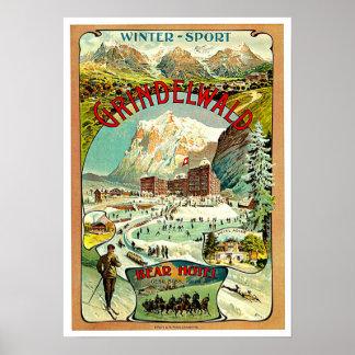 Switzerland Vintage Travel Art Poster