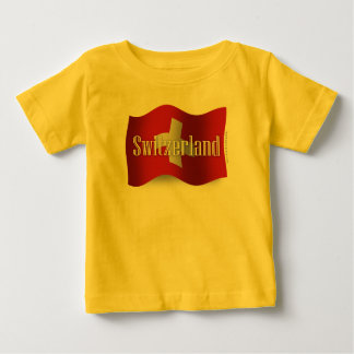 Switzerland Waving Flag Baby T-Shirt