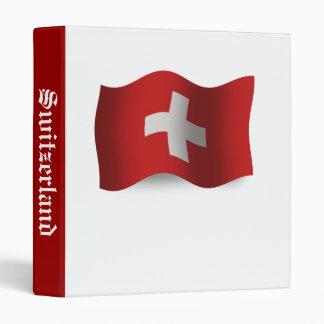 Switzerland Waving Flag Binder