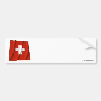 Switzerland Waving Flag Bumper Stickers