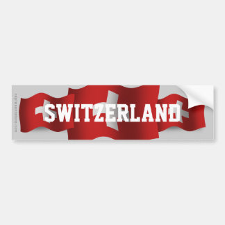 Switzerland Waving Flag Bumper Sticker