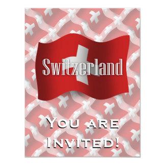 Switzerland Waving Flag Card