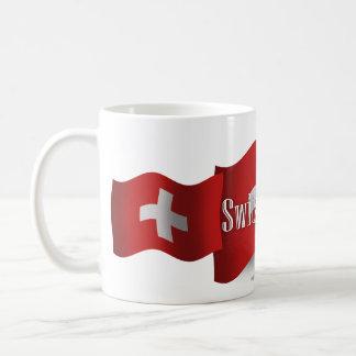 Switzerland Waving Flag Coffee Mug