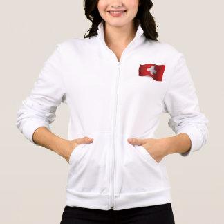 Switzerland Waving Flag Jacket