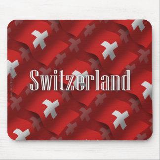 Switzerland Waving Flag Mouse Pad