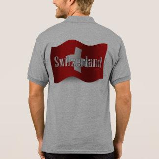 Switzerland Waving Flag Polo T-shirts