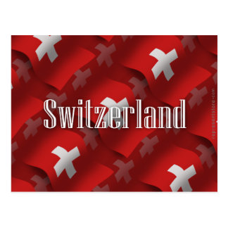 Switzerland Waving Flag Postcard