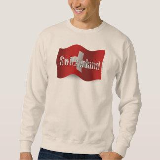 Switzerland Waving Flag Pull Over Sweatshirt