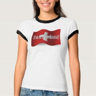 Switzerland Waving Flag T-Shirt