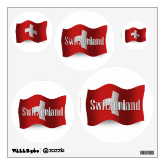 Switzerland Waving Flag Wall Decal