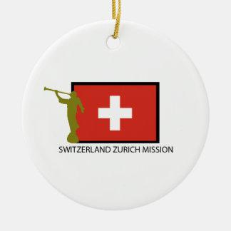 SWITZERLAND ZURICH MISSION LDS CTR CERAMIC ORNAMENT