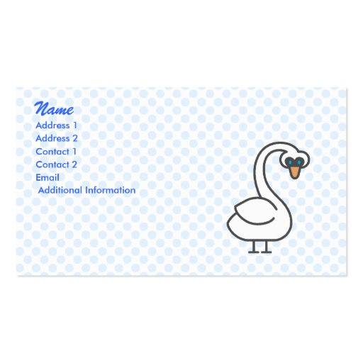 Swivvel Swan Double-Sided Standard Business Cards (Pack Of 100)