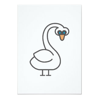 Swivvel Swan 5x7 Paper Invitation Card