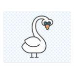 Swivvel Swan Postcard