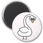 Swivvel Swan Refrigerator Magnets