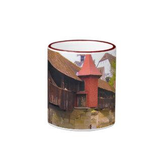 Swizerland, Lucerne, medieval chapel bridge Ringer Coffee Mug