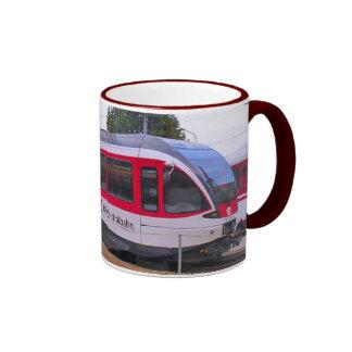 Swizerland, tren interurbano taza de dos colores