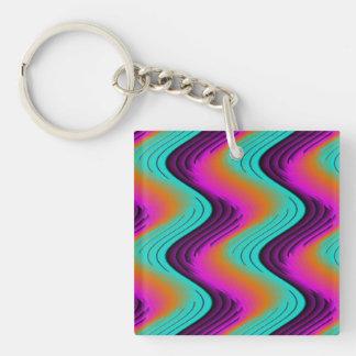 Swizzle Single-Sided Square Acrylic Keychain
