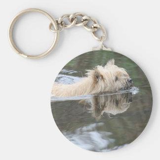 swmming dog keychain