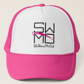 "SWMO: HOT Pink Relax Hat ""She Wears Me Out"""