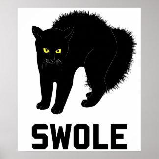 Swole Cat is Kitten Swole Poster