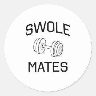 Swole Mates Classic Round Sticker