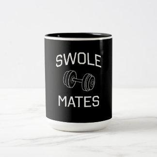 Swole Mates Two-Tone Coffee Mug