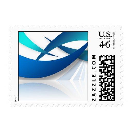 Swoosh azul abstracto texturizado envio