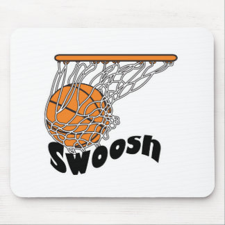 swoosh basketball mouse pad