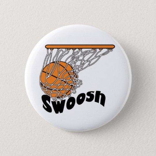 swoosh basketball pinback button