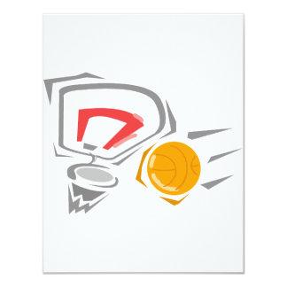 Swoosh 4.25x5.5 Paper Invitation Card