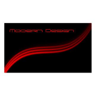 Swoosh negro rojo moderno simple - tarjeta de vis