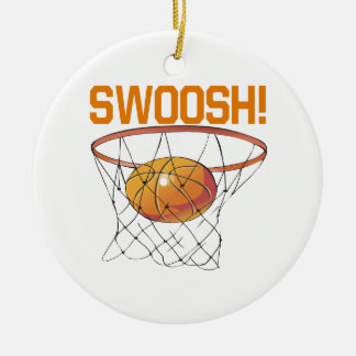 Swoosh Double-Sided Ceramic Round Christmas Ornament