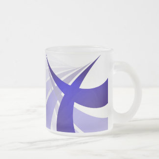 Swooshes abstractos azules tazas de café