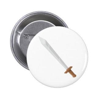 Sword 2 Inch Round Button