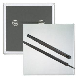 Sword and sheath, from La Tene, Switzerland 2 Inch Square Button