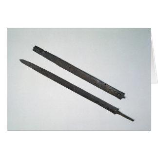 Sword and sheath, from La Tene, Switzerland Card