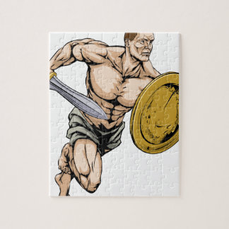Sword and shield warrior jigsaw puzzles