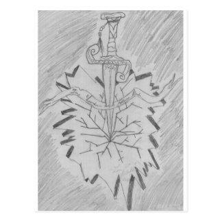 sword and stone postcard