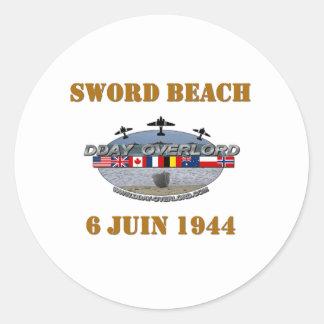 Sword Beach 1944 Classic Round Sticker