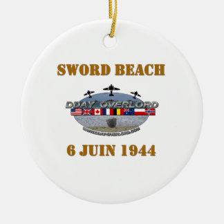 Sword Beach 1944 Adorno Redondo De Cerámica