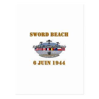 Sword Beach 1944 Postcard