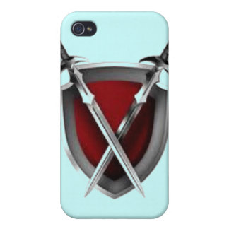 Sword crossing shield products covers for iPhone 4