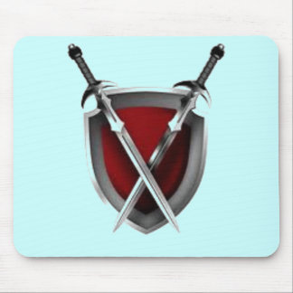 Sword crossing shield products mouse pads